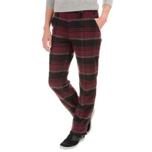 Woolrich Richville Plaid Wool Pants red burgundy